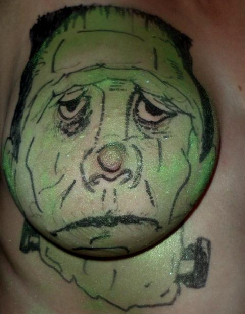 Tit thinks it's Frankenstein!!